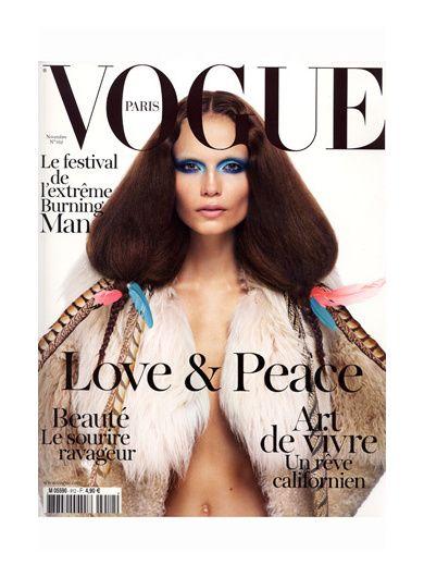 Couverture Vogue FR Novembre 2011