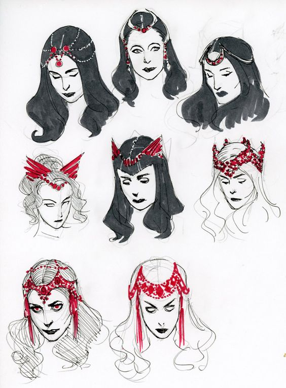 'Scarlet Witch' character designs<br />