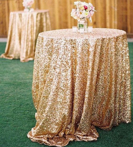 2015 Cheap Rose Gold Bling Bling Sequins Wedding Decorations Table Cloth Glitter Evening Bridesmaid Prom Party Dress Fabric Discount Fabric Online Dupioni Silk Fabric From Sweet Life, $12.91  Dhgate.Com