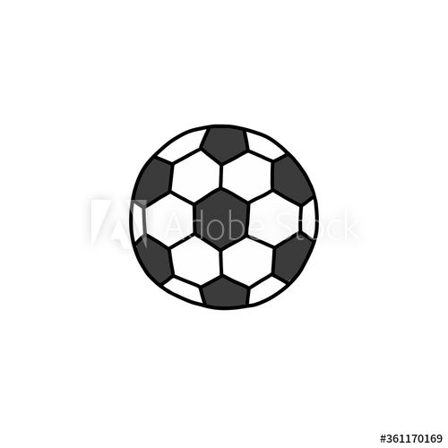Soccer Ball Doodle Icon Vector Color Illustration Ad Doodle Ball Soccer Icon Illustration In 2020 Trendy Flats Football Ball Styled Stock