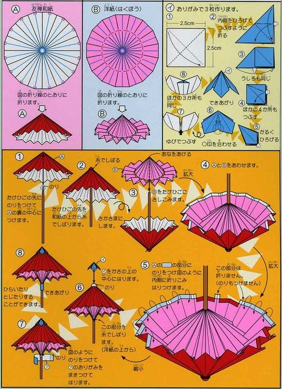 origami umbrella folding instructions origami