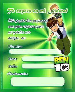 Moldes para Todo: *♥* Ben10