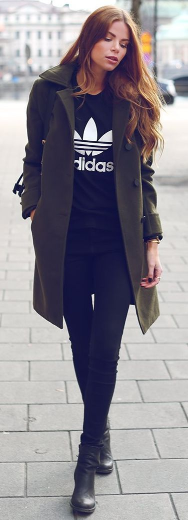 Green Coat Olive Green And Fall Street Styles On Pinterest