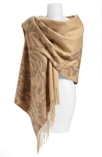 Nordstrom 'Scroll' Woven Cashmere Wrap | Nordstrom