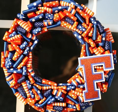 school colors wreath   # Pin++ for Pinterest #