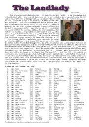 English teaching worksheets: The landlady - Roald Dahl | Scary ...