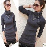 Elastic slim medium-long sweater turtleneck sweater basic shirt outerwear women's