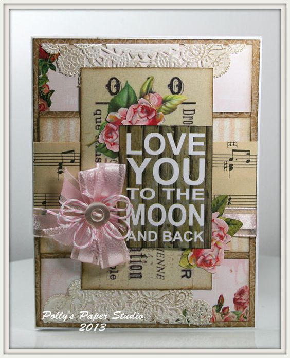 LOVE YOU to the MOON Greeting Card by PollysPaper on Etsy, $7.00