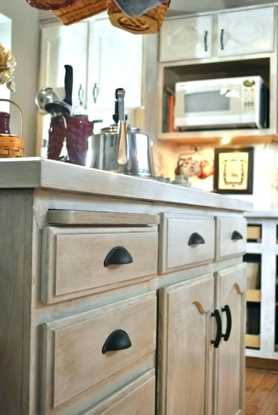 Kitchen Cabinets, Whitewash Cherry Cabinets