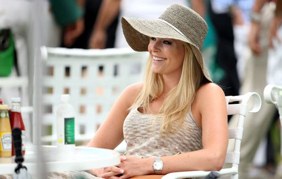 Lindsey Vonn is at the 2013 Masters to see her boyfriend Tiger Woods play. (Getty Images)