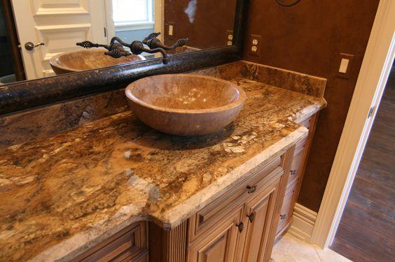 Granite Countertop Beveled Edges Brown Granite