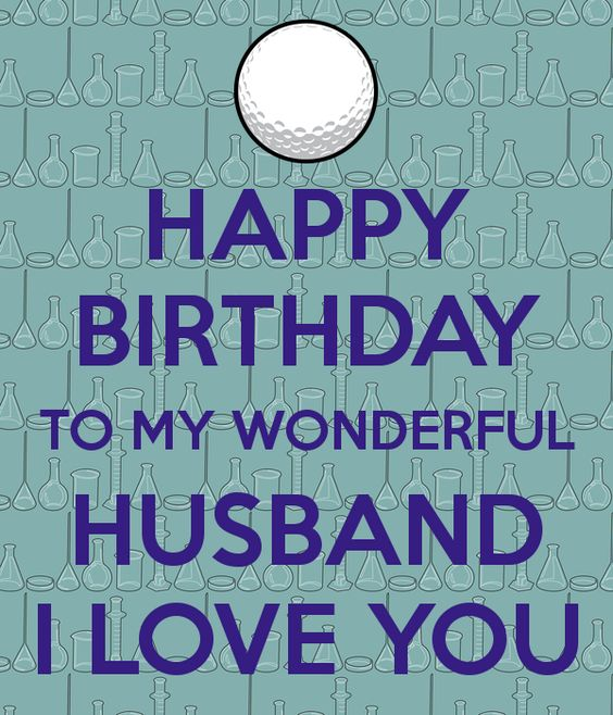 Happy Birthday HUSBAND Golf