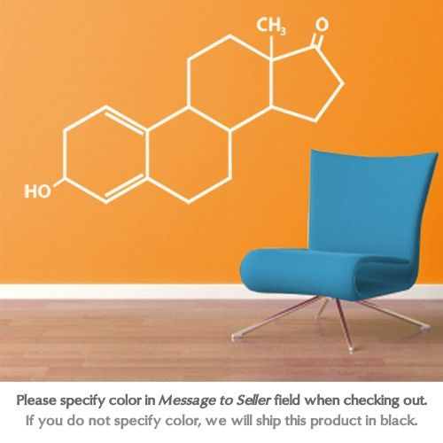 Wall decals of molecules, you know you're a geek when...  you want THIS!