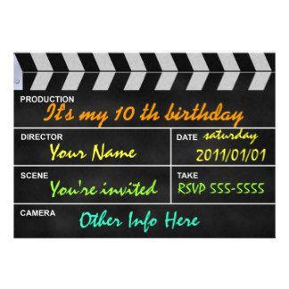 Kino Einladungen Kino Einladungskarten | Kindergeburtstag, Einladungsentwurf