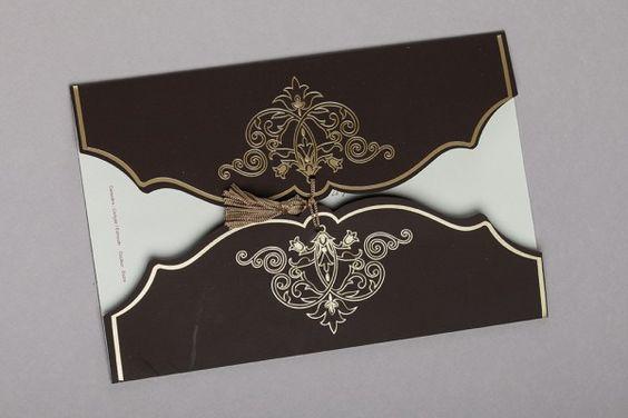 faire part mariage élégant oriental ivoire chocolat / Planche d'inspiration mademoiselle cereza blog mariage