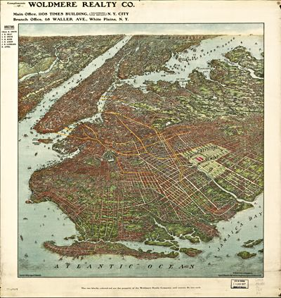 Vintage Brooklyn Map 1908, framed wall art, giclee print and framed in USA by MUSEUM OUTLETS