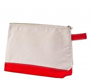 Red make-up bag