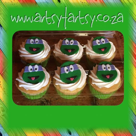 Teenage Mutant Ninja Turtle Cupcakes #teenagemutantninjaturtlecupcakes