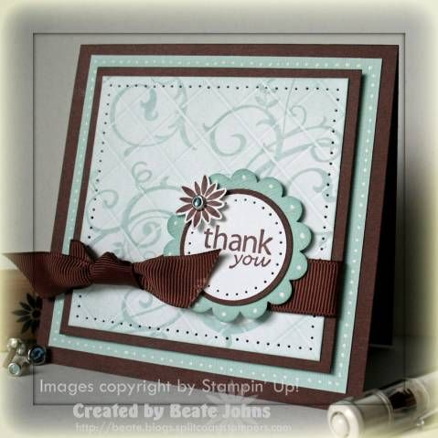 Grid Technique:  Baroque Holiday Thanks by Beate - Cards and Paper Crafts at Splitcoaststampers