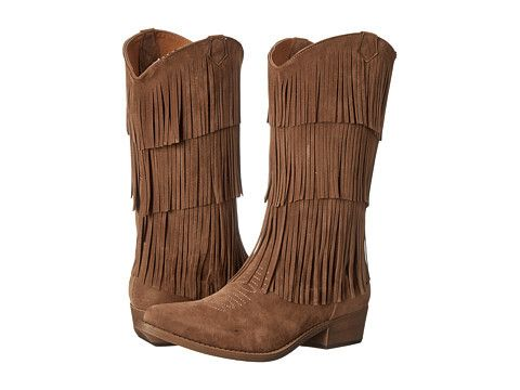 Brown Fringe Western Cowboy Boots   The Texas Cowgirl