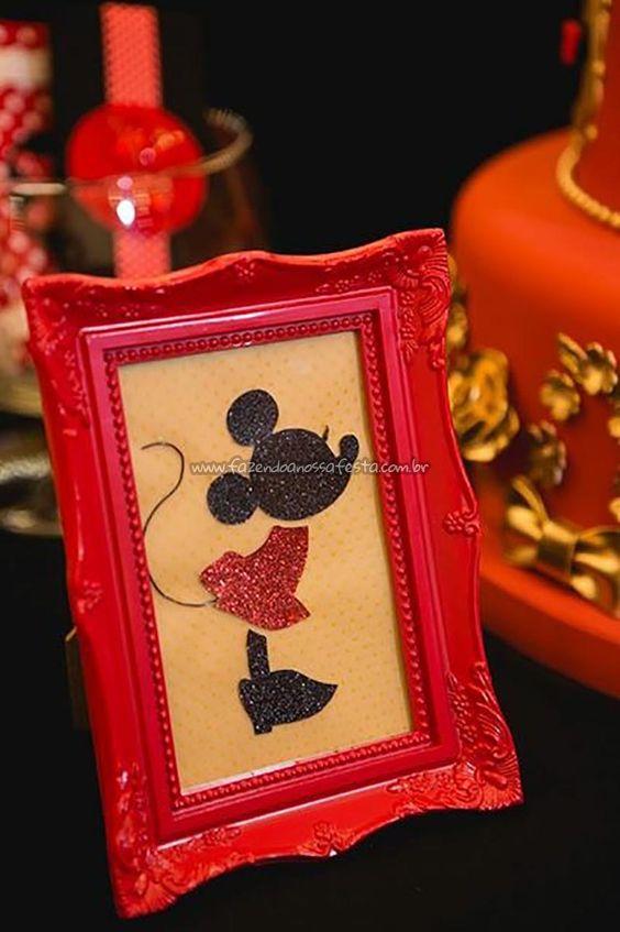 Quadro Festa Minnie Vermelha da Maria Clara: