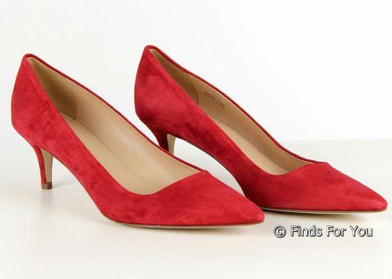 J Crew Dulci Suede Kitten Heels in Red Size 7 Style A9758 New