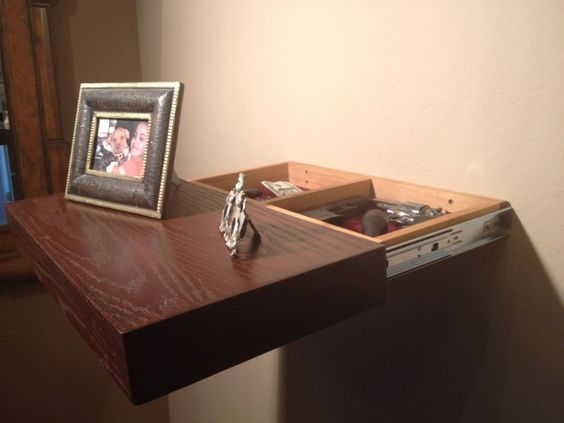 Hidden compartment in sliding shelf woodworking projects for How to make a secret compartment in your wall