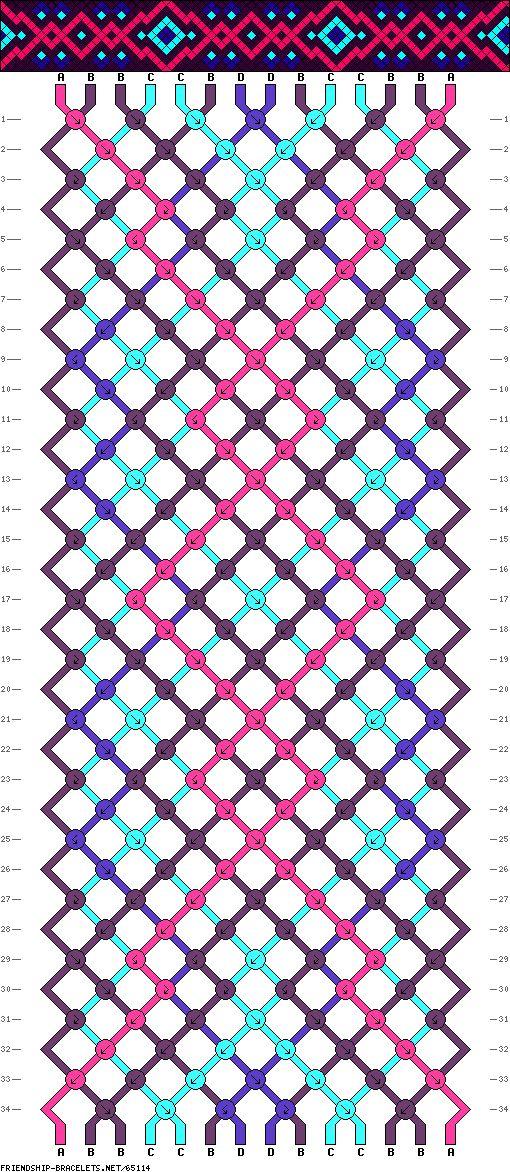 14 strings 34 rows 4 colors