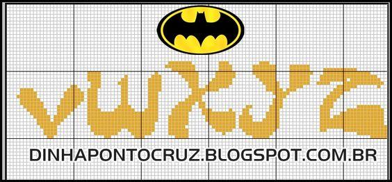 Monograma Batman by Dinha ponto cruz