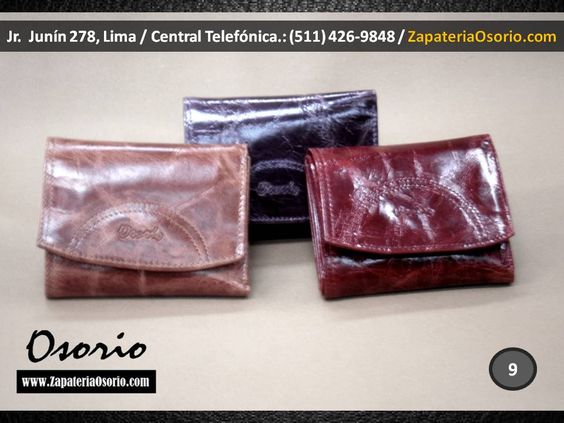 Carol Osorio / El Estilo hecho Cuero! By Osorio - Tradición en Cuero / http://www.carolosorio.com/