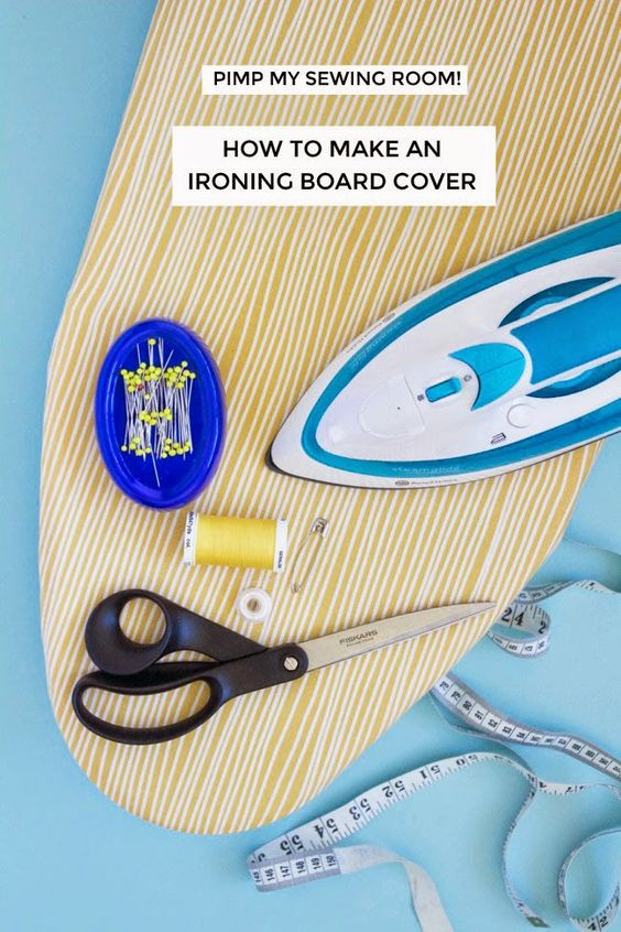 Pimp My Sewing Room! How to Make an Ironing Board Cover ...