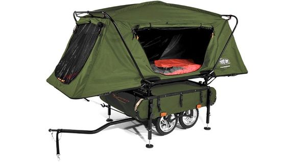 A camper trailer you can pull with your bike
