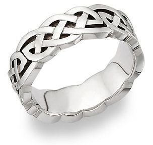 Celtic Knot Wedding Band 14K White Gold  Melissa's favorite celtic knot - turns out to be an infinity love knot. Perfecto!