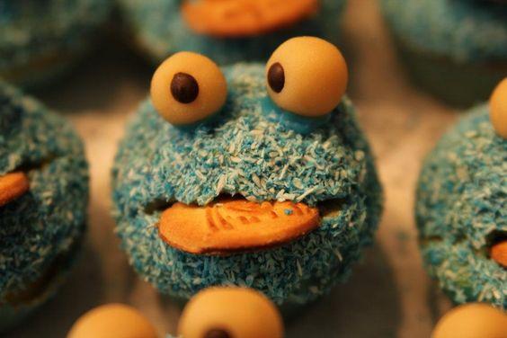 Krümelmonster Cupcakes