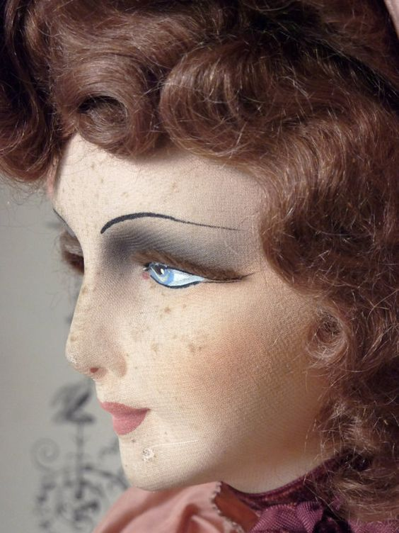 antique french boudoir doll by stylerevisited on Etsy, €375.00: