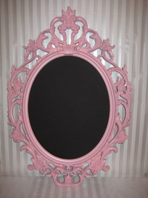 cyber monday special price reduced customizable pink large oval frame with black chalkboard