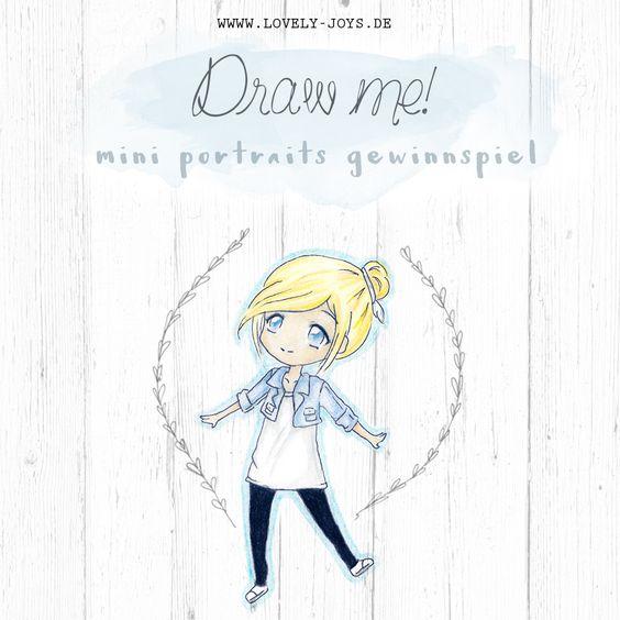 DRAW ME! Mini Portrait Gewinnspiel für euch ❤ Über das Zeichnen und das ewige Leiden mit der Mathematik