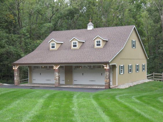 Cars car garage and numbers on pinterest for Shop with upstairs living quarters
