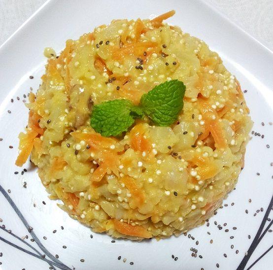 Risoto de couve-flor: sem arroz, sem leite, sem gluten. Vegano.