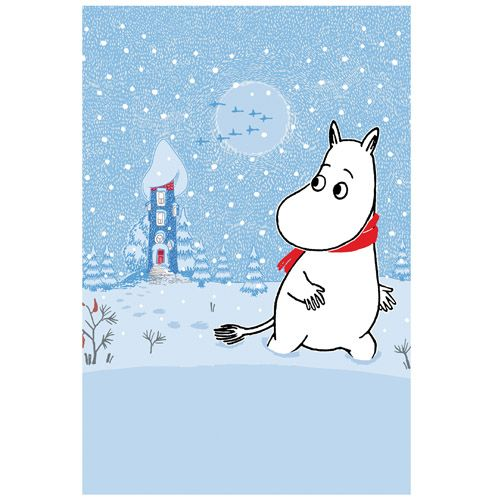 Moomin Postcard: Moominhouse in Winter