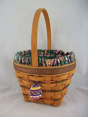 Longaberger 1996 Easter Basket Combo w Tie On