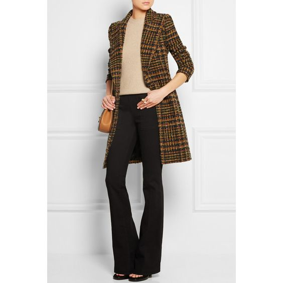 Bouchra Jarrar Checked wool-blend tweed coat ($1,830) ❤ liked on Polyvore