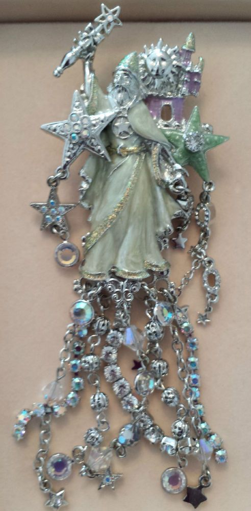 Kirks Folly Rhinestone Millennium Wizard Pin Brooch RETIRED EXTREMELY RARE!