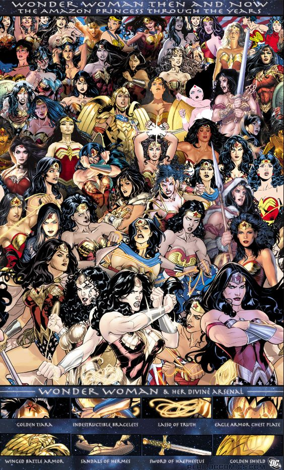 Wonder Woman through the years