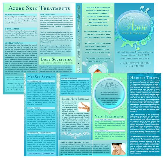 Medical Spa Brochure Design ideas Pinterest Beautiful - spa brochure