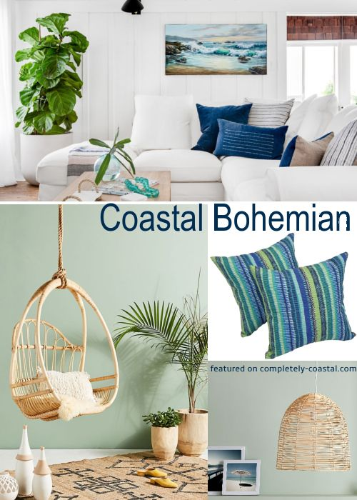 Bohemian Coastal Beach Cottage Decor Style Beach Style Decorating Trending Decor Home Decor Trends