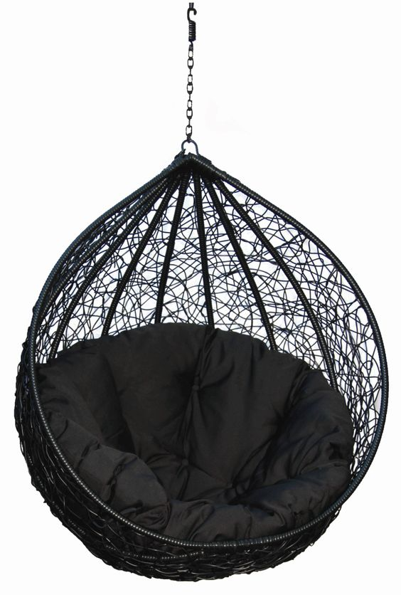 Hanging Chairs for Your Inspiration Fancy Black Eclipse Hanging Egg Chair Combine With Black Fabric Hanging Hammock Chair Indoor Hanging Chair Furniture Outdoor Hanging Chairs. Hanging Rattan Chair. Hanging Ceiling Chairs. | gmontrone.com