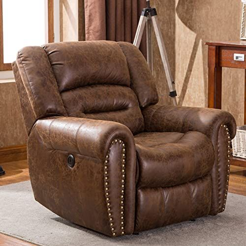 Traditional Brown Leather Recliner Hampton In 2020 Brown Leather Recliner Family Furniture Recliner