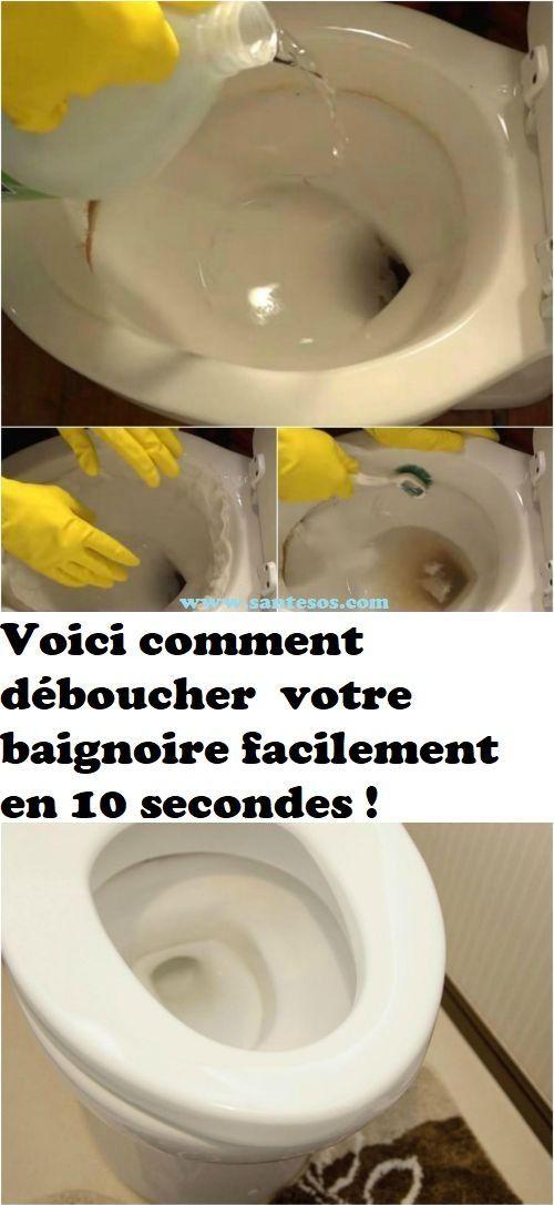 Voici Comment Deboucher Votre Baignoire Facilement En 10 Secondes Toilet Stains Toilet Cleaning Cleaning Hacks