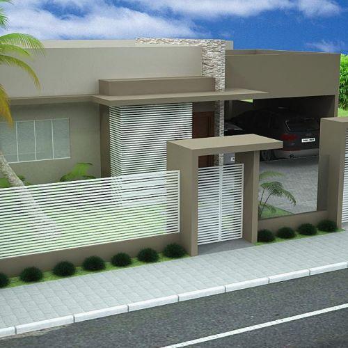 Muros modernos para exteriores